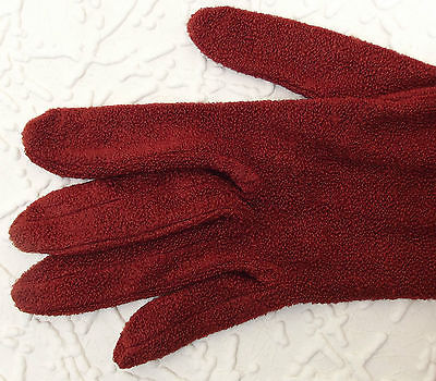 Dents ladies gloves ARTIFICIAL SILK textured vintage ART DECO womens size 7